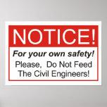 ¡No alimente a los ingenieros civiles! Impresiones
