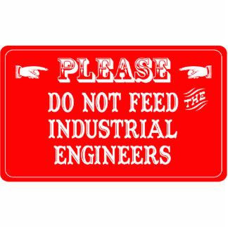No alimente a los ingenieros industriales escultura fotográfica