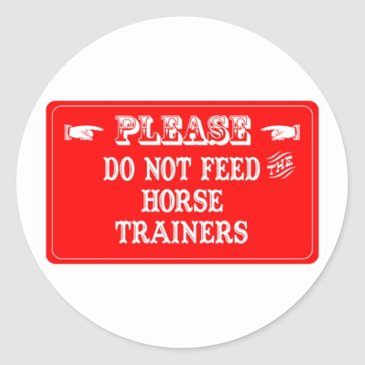 No alimente a los instructores de caballo etiquetas