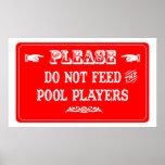 No alimente a los jugadores de la piscina impresiones