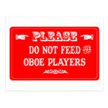 No alimente a los jugadores de Oboe Postales