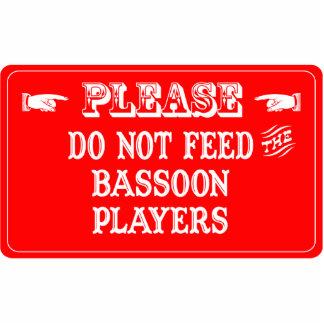 No alimente a los jugadores del Bassoon Adorno Fotoescultura