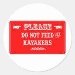 No alimente a los Kayakers Pegatinas