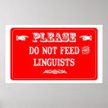 No alimente a los lingüistas impresiones