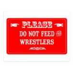 No alimente a los luchadores postal