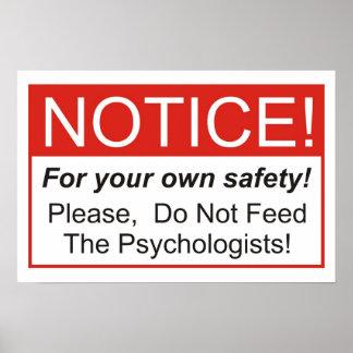 ¡No alimente a los psicólogos! Póster
