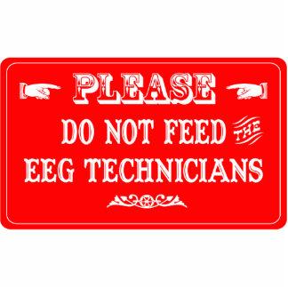 No alimente a los técnicos de EEG Escultura Fotográfica