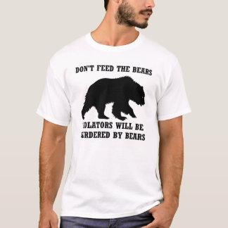 No alimente a osos la camisa