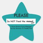 ¡No alimente el animal! pegatina