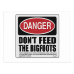 No alimente el Bigfoots Postales