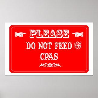 No alimente el CPAs Posters