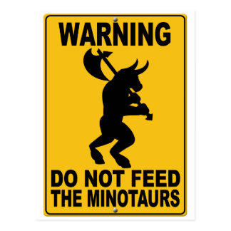 No alimente el Minotaurs Tarjeta Postal