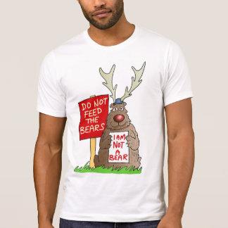 No alimente la camiseta del oso