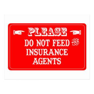 No alimente los agentes de seguro postales