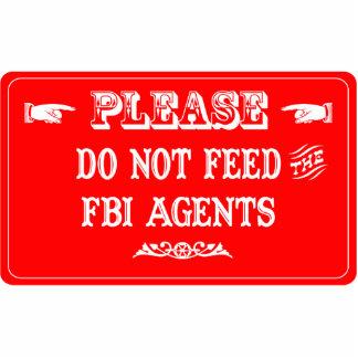 No alimente los agentes del FBI Adorno Fotoescultura