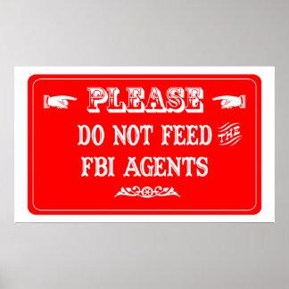 No alimente los agentes del FBI Impresiones