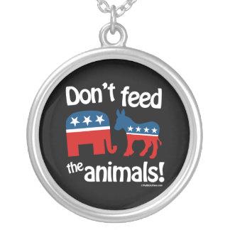 No alimente los animales colgante redondo