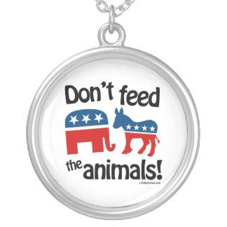 No alimente los animales - colgante redondo