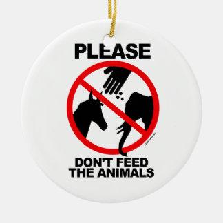 No alimente los animales ornamentos para reyes magos