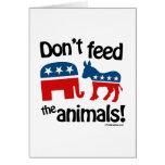 No alimente los animales - felicitaciones