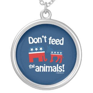 No alimente los animales pendiente