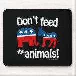 No alimente los animales tapete de ratón