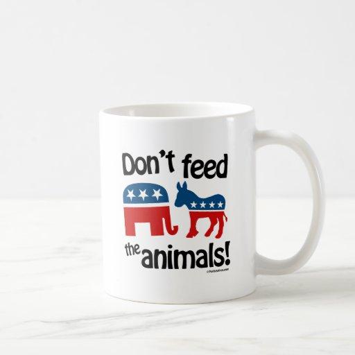 No alimente los animales - tazas de café