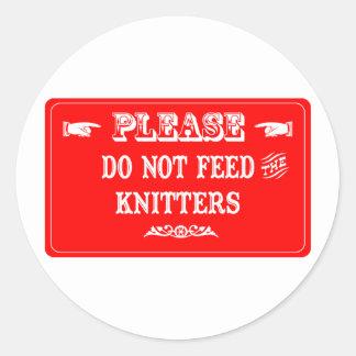 No alimente los calceteros pegatinas