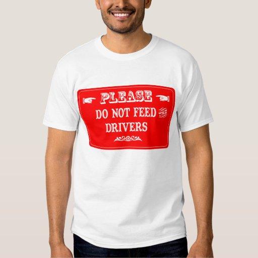 No alimente los conductores polera