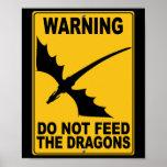 No alimente los dragones impresiones