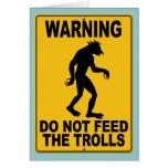 No alimente los duendes felicitación