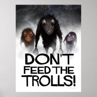¡No alimente los duendes! Internet divertido Meme Póster