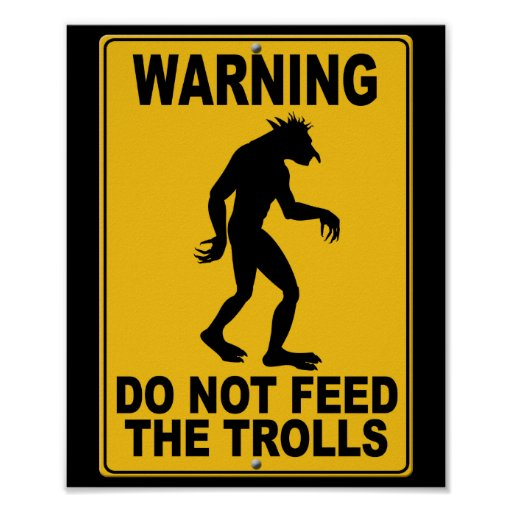 No alimente los duendes póster