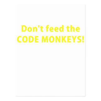 No alimente los monos del código postal