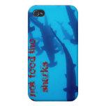 ¡No alimente los tiburones! iPhone 4 Cárcasa