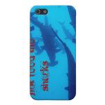 ¡No alimente los tiburones! iPhone 5 Fundas