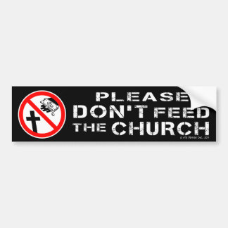 No alimente por favor a la pegatina para el parach etiqueta de parachoque