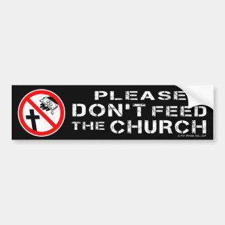 No alimente por favor a la pegatina para el parach pegatina para auto