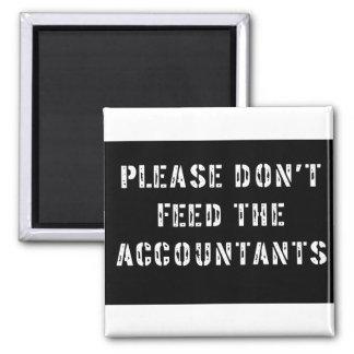 No alimente por favor a los contables imanes para frigoríficos