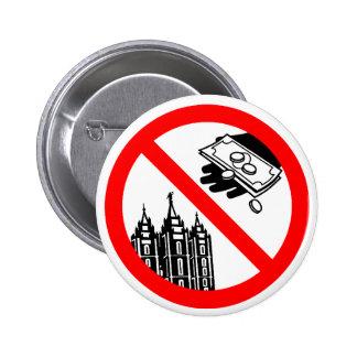 No alimente por favor el botón de la iglesia pin redondo de 2 pulgadas