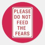 No alimente por favor los miedos etiquetas