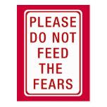 No alimente por favor los miedos postales