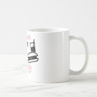 No alimente por favor los modelos tazas de café