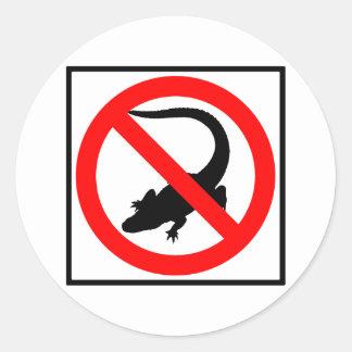 No Alligators Highway Sign Classic Round Sticker