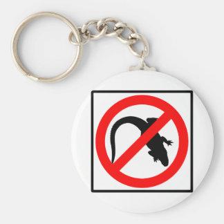 No Alligators Highway Sign Basic Round Button Keychain