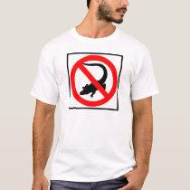 No Alligators Highway Sign T-Shirt