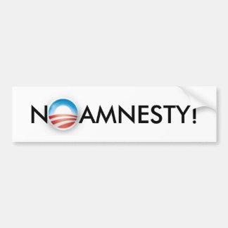 No Amnesty! Bumper Sticker