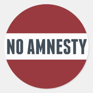 No Amnesty Classic Round Sticker