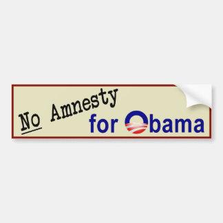 No Amnesty for Obama Bumper Sticker