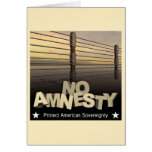 No Amnesty Greeting Card